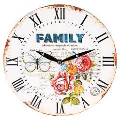 Часы настенные механические Романтика MHZ 009AL 29 см, белый