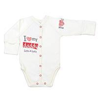Боди для новорожденных Veres I love my daddy red интерлок молочный