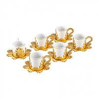 Набор чашек для кофе Золотистая Звезда на 6 персон, фото 1