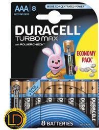 DURACELL AAA LR03 MX2400  Turbo 1x8 шт.