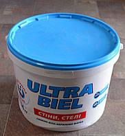 Краска матовая  для стен и потолков Ultra-Бiel (Ультра белая) Sniezka  14 кг