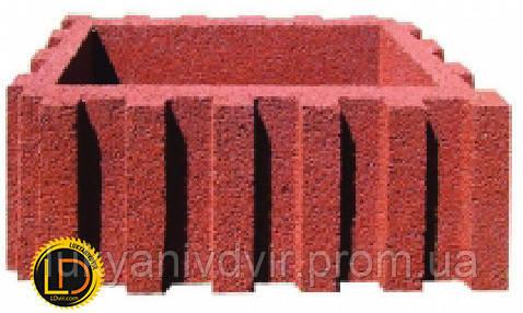 Цветник прямоугольный красный 600х400