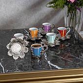 Набор чашек для кофе Разноцветная Звезда на 6 персон