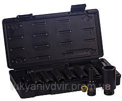 Набор ударных головок M7 1/2 10шт. 10-27мм, пласт.кейс