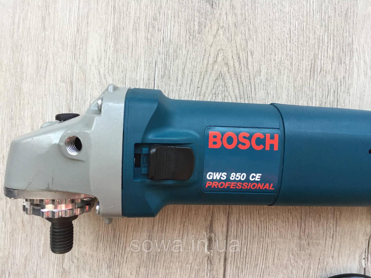 ✔️ Болгарка, ушм - Bosch GWS 850CE   Регулятор оборотів, Гарантія якості