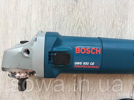 ✔️ Болгарка, ушм - Bosch GWS 850CE   Регулятор оборотів, Гарантія якості, фото 2