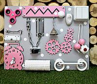"""Бизиборд """"Компакт"""" 30х40 см бізіборд busyboard розовый, фото 1"""