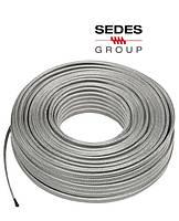 Греющий кабель (тэн) в металлическом корде Sedes Group 352048409 (230V / 30Wt/m  / 6.5*4.5 mm)