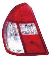 Фонарь задний для Renault Clio Symbol '01-05 правый (DEPO) красно-белый