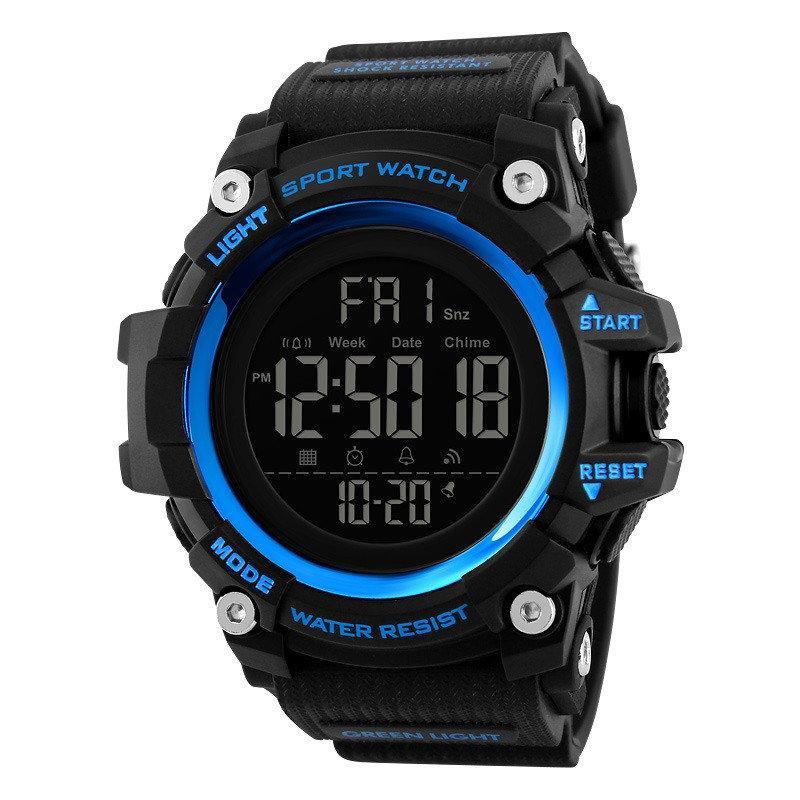 Оригинальные спортивные мужские часы SKMEI (СКМЕЙ) 1384 Black / Blue / Camo