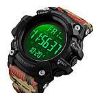 Оригинальные спортивные мужские часы SKMEI (СКМЕЙ) 1384 Black / Blue / Camo, фото 10