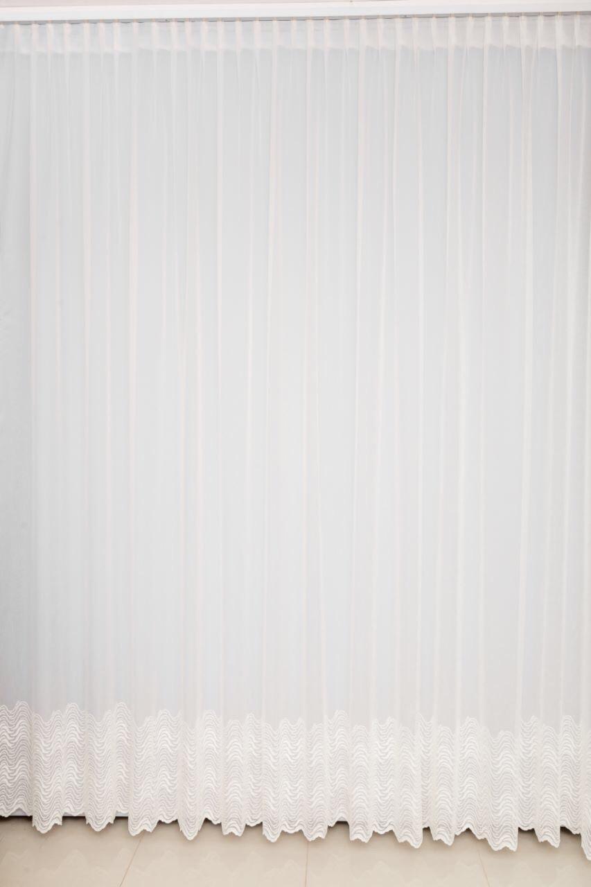 Красивая плотная гардина лён в гостинную,спальню,залу белая/молочная ( обработка сторон + 40 грн.)