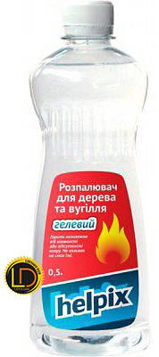 Разжигатель огня для угля гелевый Helpix 0,25л, фото 2