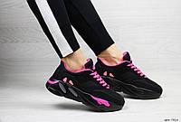 Женские кроссовки черные с розовым Adidas x Yeezy Boost 700 OG 7315