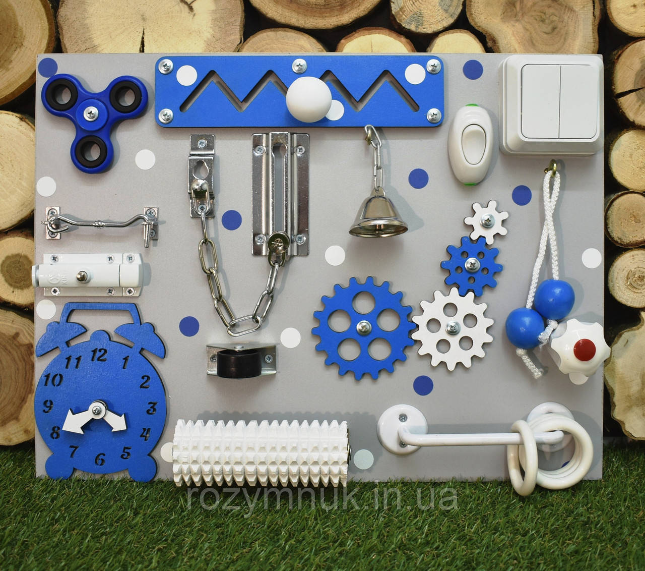 """Бизиборд """"Компакт"""" 30х40 см бізіборд busyboard синий стандартное наполнение"""