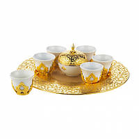 Набор чашек для кофе на 6 персон Sena Золотистый Мирра