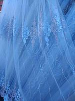 Тюль занавески портьеры ширина 285 см сублимация узор 12 цвет белый-шампань