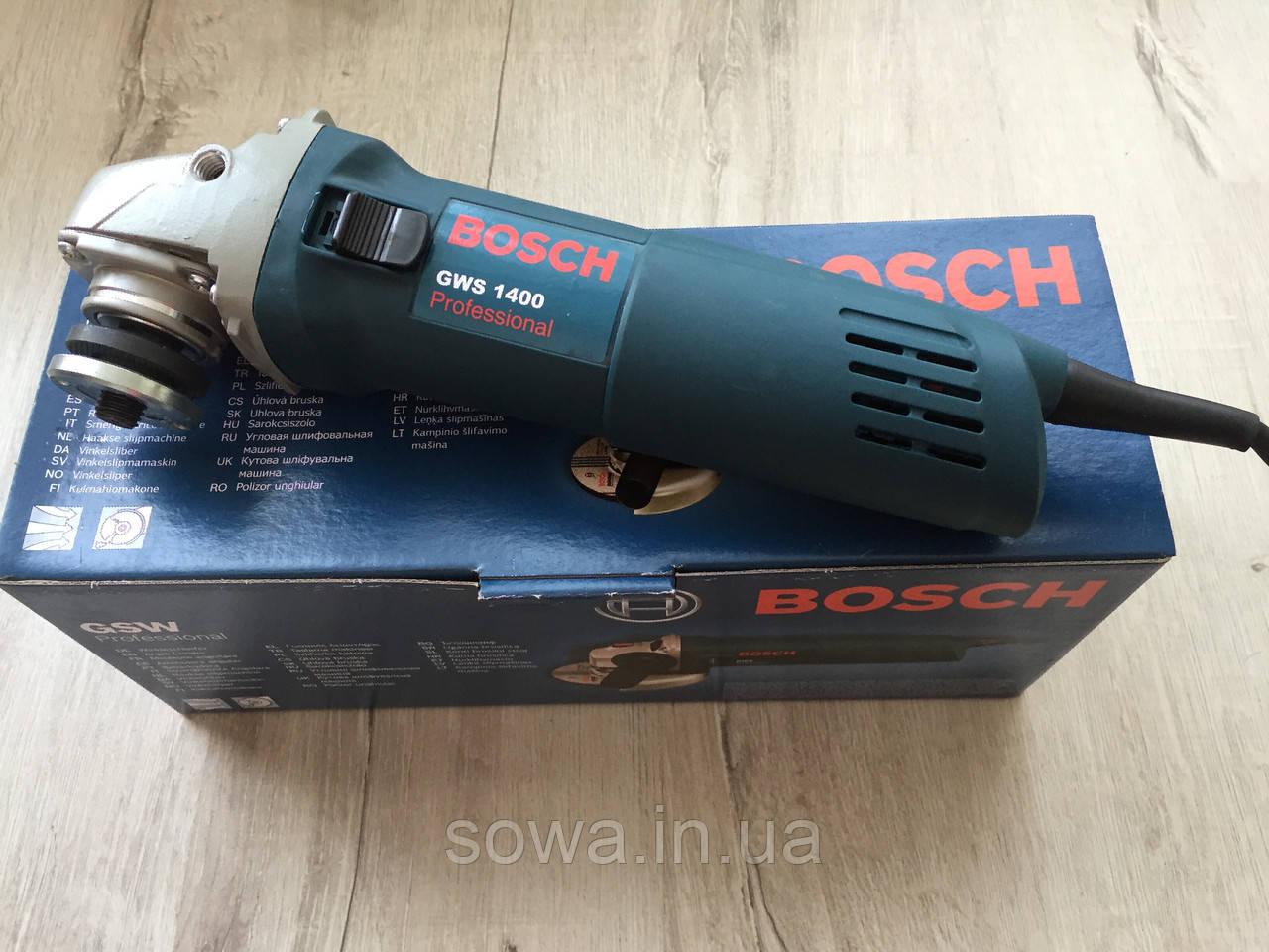 Болгарка BOSCH_ БОШ GWS1400 ( 1400 Вт, 125 мм ) + ПОДАРОК - фото 8