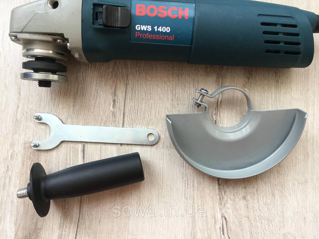 Болгарка BOSCH_ БОШ GWS1400 ( 1400 Вт, 125 мм ) + ПОДАРОК - фото 5