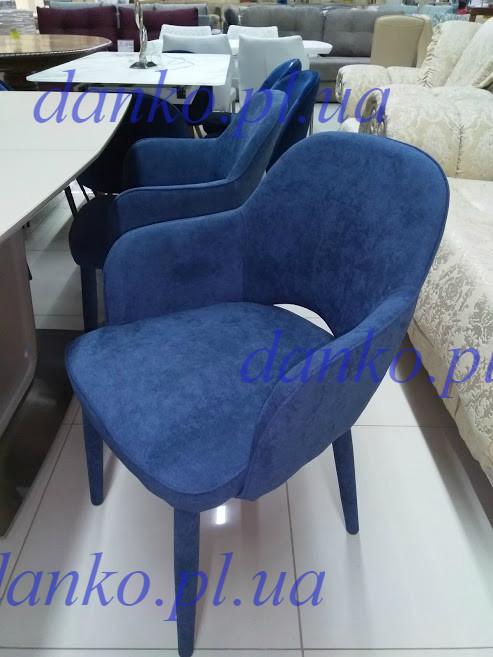 Кресло Роли темно- голубая ткань Roli MC-16-2 dark blue