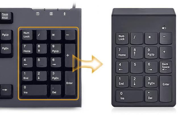 Цифровая беспроводная клавиатура 18 клавиш. Числовой блок