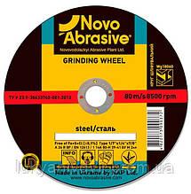 Круг шлифовальный по металу NOVOABRASIVE 27 14А 125 6,0 22,23