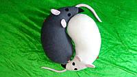 Игрушки-подушки Мышки Инь Ян (2 в 1)