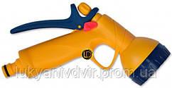 Пистолет-распылитель 6-позиционный пластиковый с фиксатором потока Verano