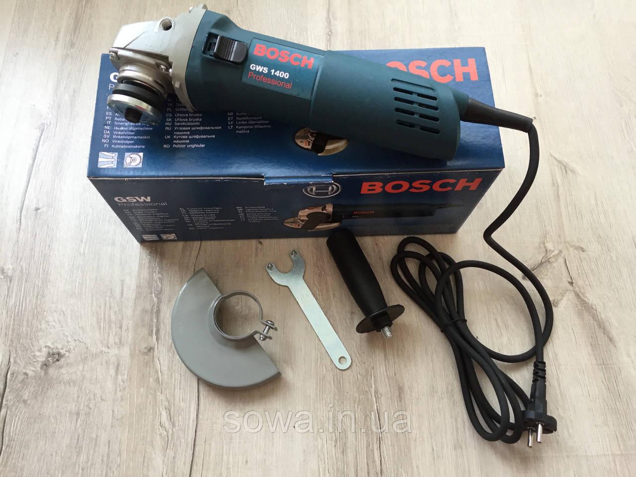 ✔️ Болгарка Bosch/Бош GWS1400 | 125мм, 1400Вт