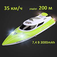 Радиоуправляемый катер HJ806B 35km/h 3000mAh 2,4GHz  іграшка для дітей швидкісна лодка на пульту кораблик