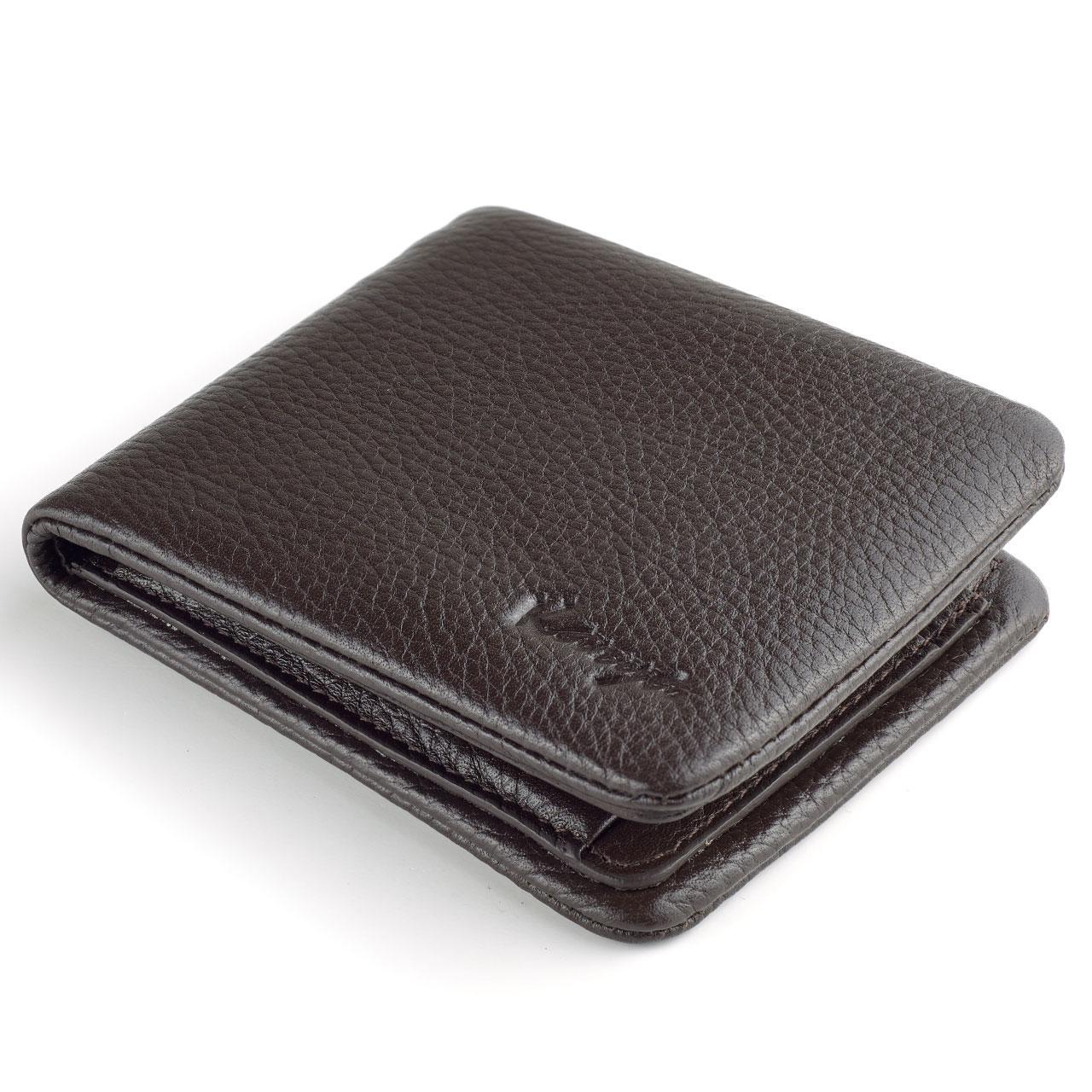 Мужское портмоне Karya 0942-39 кожаное коричневое