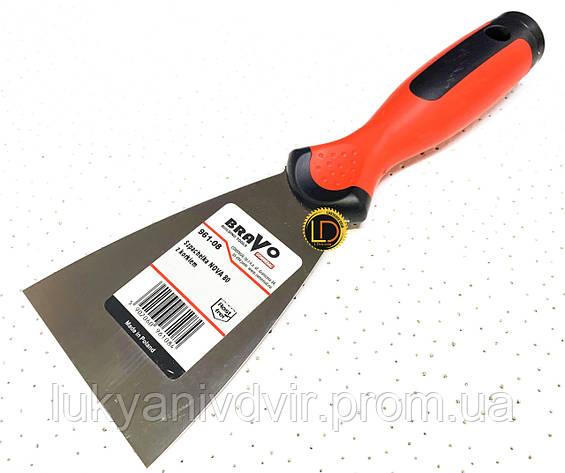 Шпатель с круглой ручкой BRAVO-SOFT Comensal 120 мм, фото 2