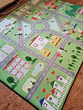 """Безкоштовна доставка! Килим в дитячу """"Містечко"""" зелений"""" утеплений килимок мат (1.5*2 м), фото 3"""
