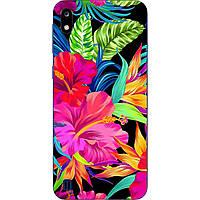 Чехол силиконовый с картинкой для ZTE Blade A7 2019 Яркие цветы