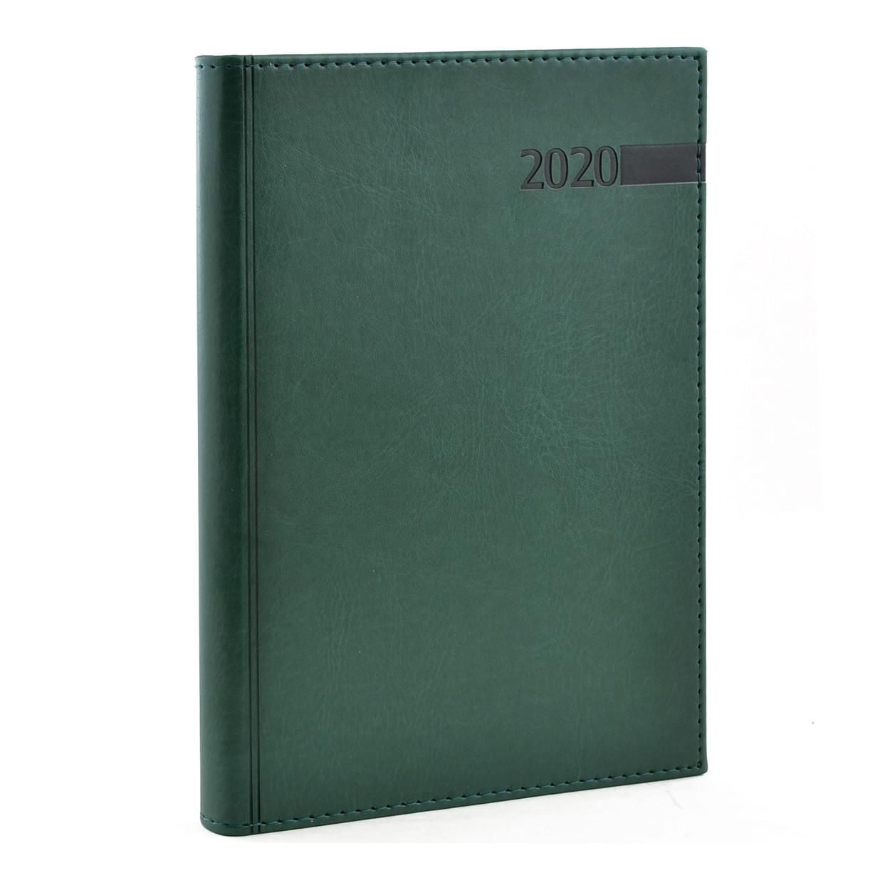 "Ежедневник А5 дат. ""Persona"", тверд., PU, 352 стр., зеленый"
