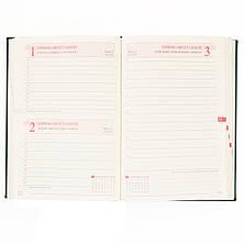 """Ежедневник А5 дат. """"Persona"""", тверд., PU, 352 стр., зеленый                               , фото 2"""