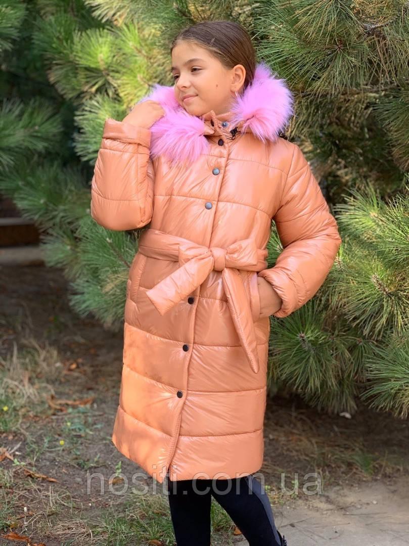 Куртка детская зима на синтепоне для девочки