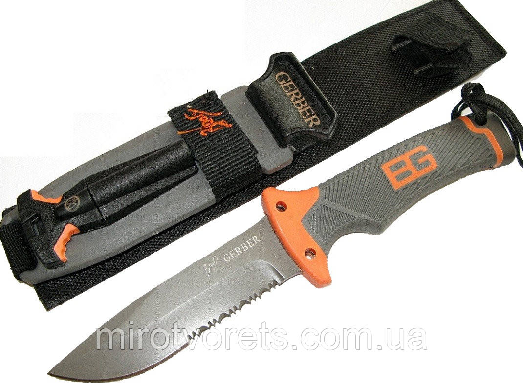 Нож с огнивом Gerber Ultimate Fixed Blade, серейтор (Bear Grylls)