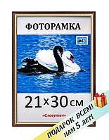 Фоторамка пластиковая, А4, 21х30, рамка для фото, дипломов, сертификатов, грамот, картин, 1415-95