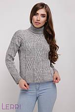 Затишний жіночий теплий светр на зиму хакі, фото 3