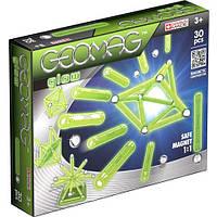 Светящийся магнитный конструктор Geomag Glow 30 деталей | Геомаг