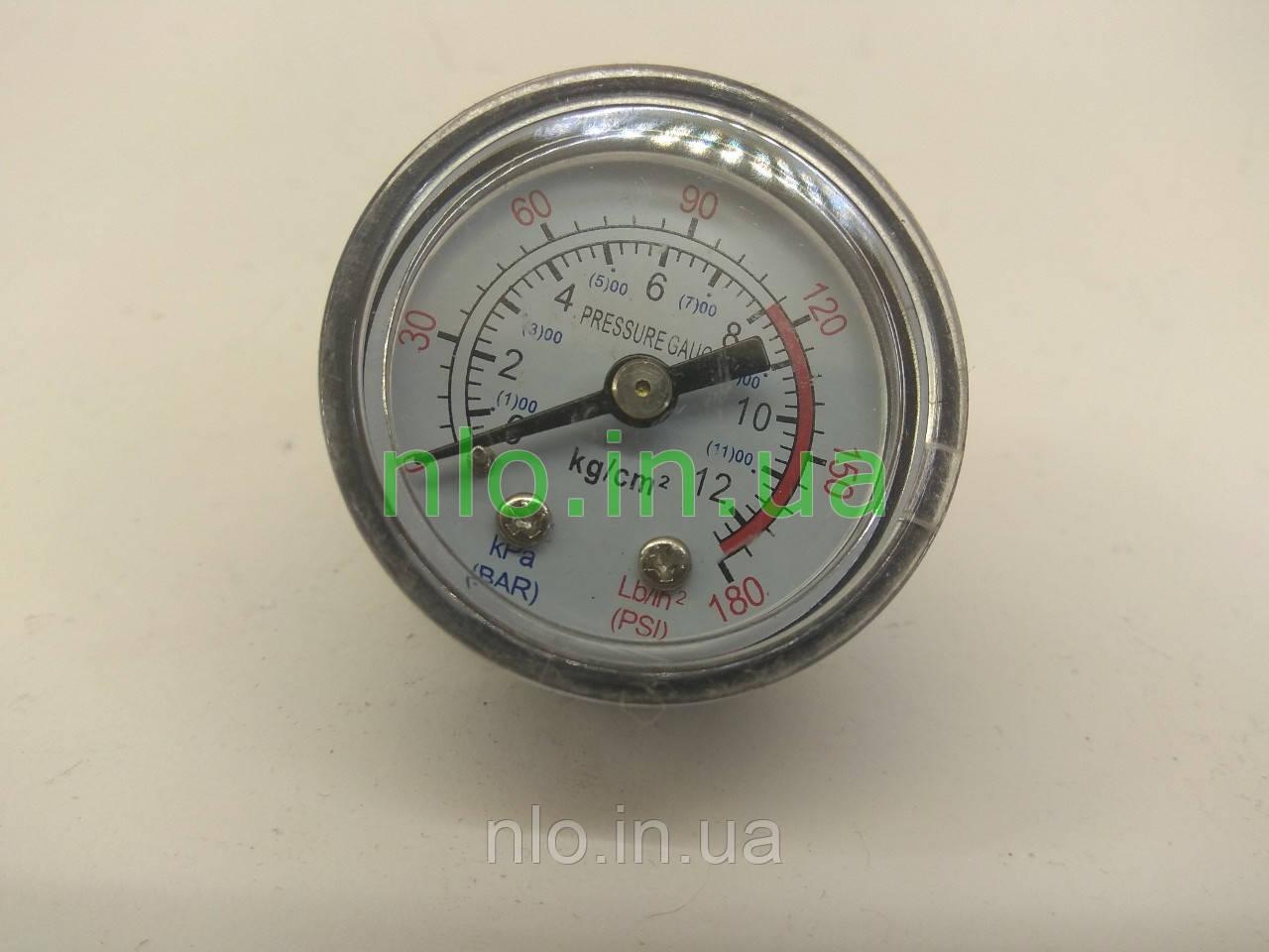 Манометр компрессора (резьба 9,5 мм, габарит 40х39 мм)