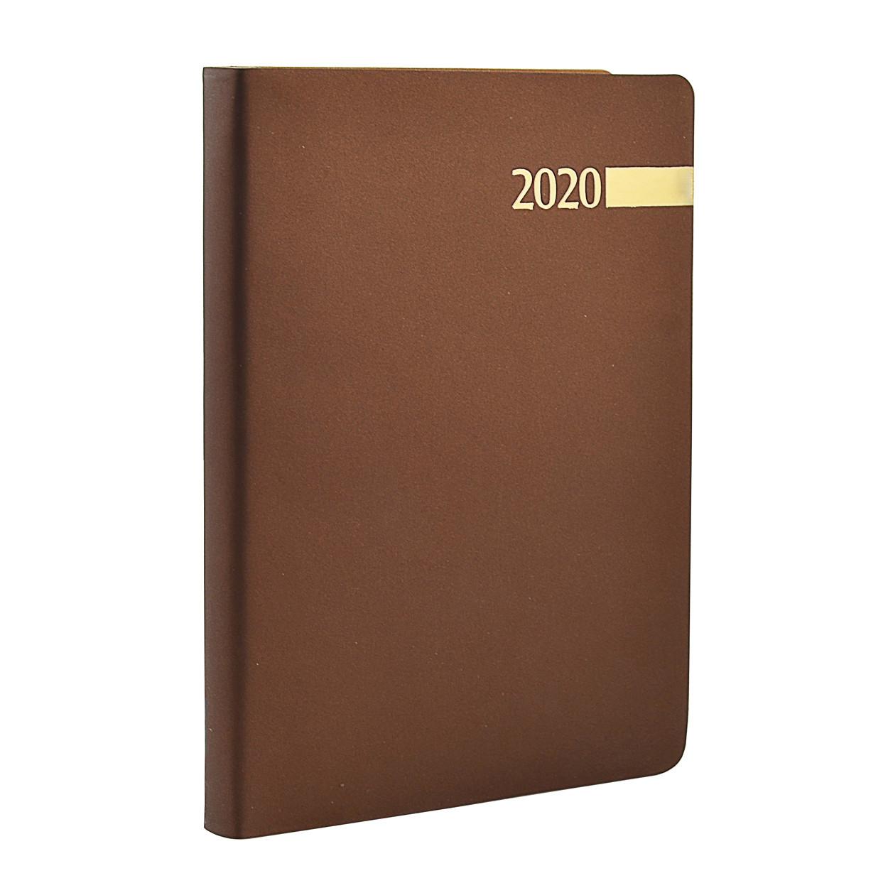 "Ежедневник А5 дат. ""Stella"", мягк., PU, 352 стр., коричневый"