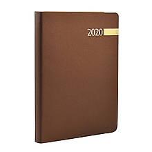 "Щоденник А5 дат. ""Stella"", тверд., PU, 352 стор, коричневий"