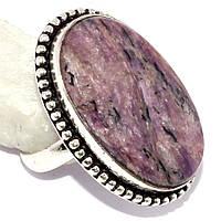 Красивое кольцо с чароитом в серебре. Кольцо овал чароит натуральный 19,5-20 размер Индия Сертификат