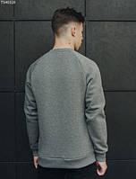 Свитшот Staff gray line logo fleece