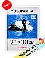 Фоторамка пластиковая А4, 21х30, рамка для фото, дипломов, сертификатов, грамот, картин, 1611-14
