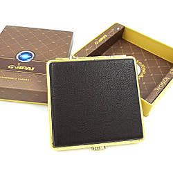 Портсигар на 20 стандартних сигарет з натуральної шкіри