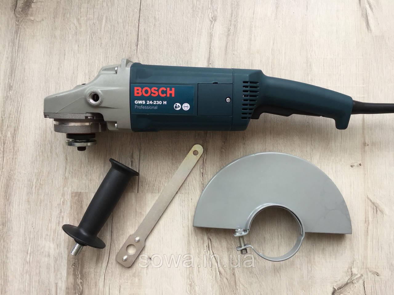 ✔️ Болгарка Bosch_бош GWS 24-230H  ( 230 круг, 2400Вт )   + ПОДАРОК