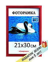 Фоторамка пластиковая А4, 21х30, рамка для фото, дипломов, сертификатов, грамот, картин,1611-20